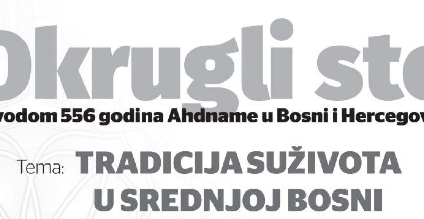 """Najava okruglog stola o temi """"Tradicija suživota u Srednjoj Bosni"""""""